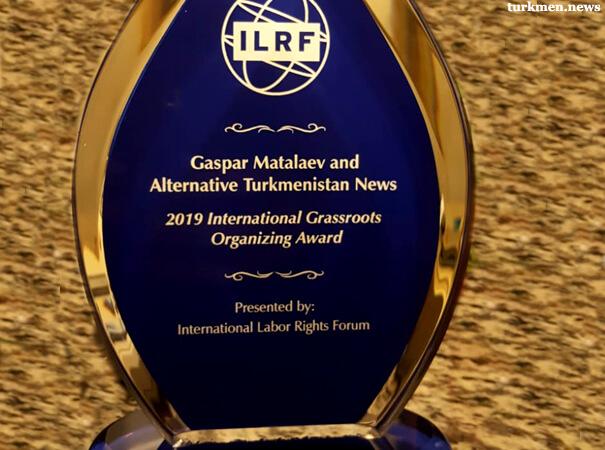 Туркменский активист Гаспар Маталаев удостоился награды ILRF «Защитник трудовых прав»