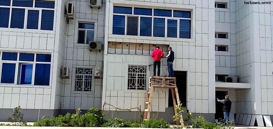 Ашхабад: Власти на жалобу отреагировали, но проблема с протекающими стенами осталась