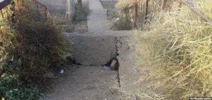 В Туркменабаде отремонтировать аварийный мост обязали школу. Ее окончил герой-космонавт Кононенко