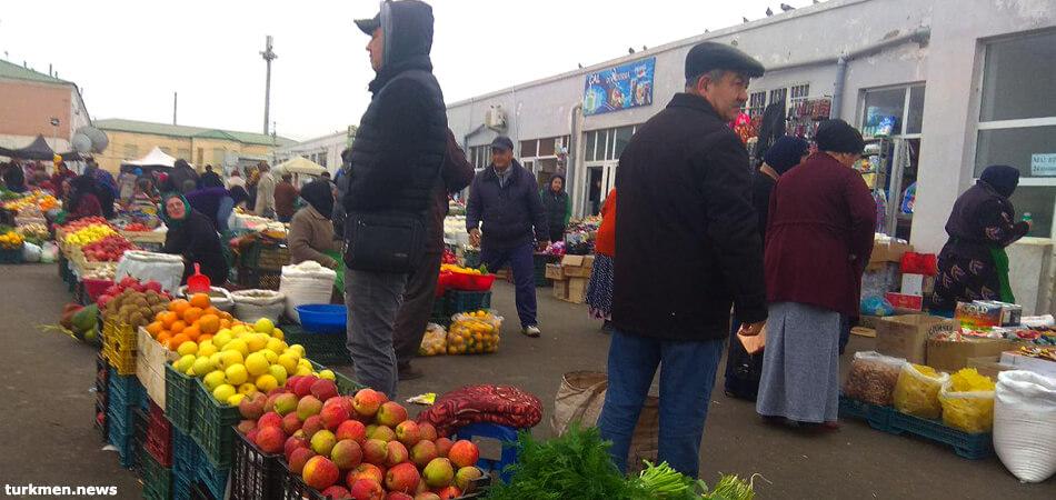 Бай базар в Туркменистане, город Дашогуз