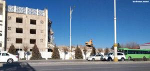 В Ашхабаде почти полностью снесен жилой район близ аэропорта