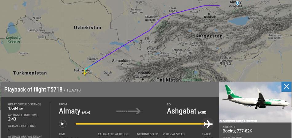 Международные рейсы а/к «Туркменистан» в Ашхабад сажают в Туркменабаде