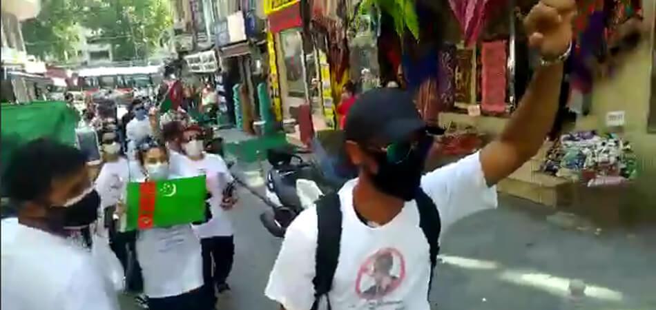 В Стамбуле прошел очередной протест граждан Туркменистана