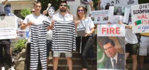 Активисты в США «подарили» Бердымухамедову наручники и тюремную робу