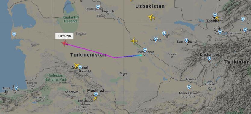 Очередным чартером турецкие специалисты покидают Туркменистан