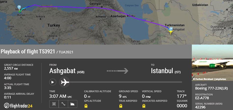 Рейсы в Туркменистан из России не возобновят как минимум до 6 ноября