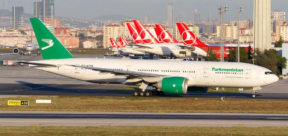 «Туркменские авиалинии» продлили отмену международных рейсов до 31 декабря