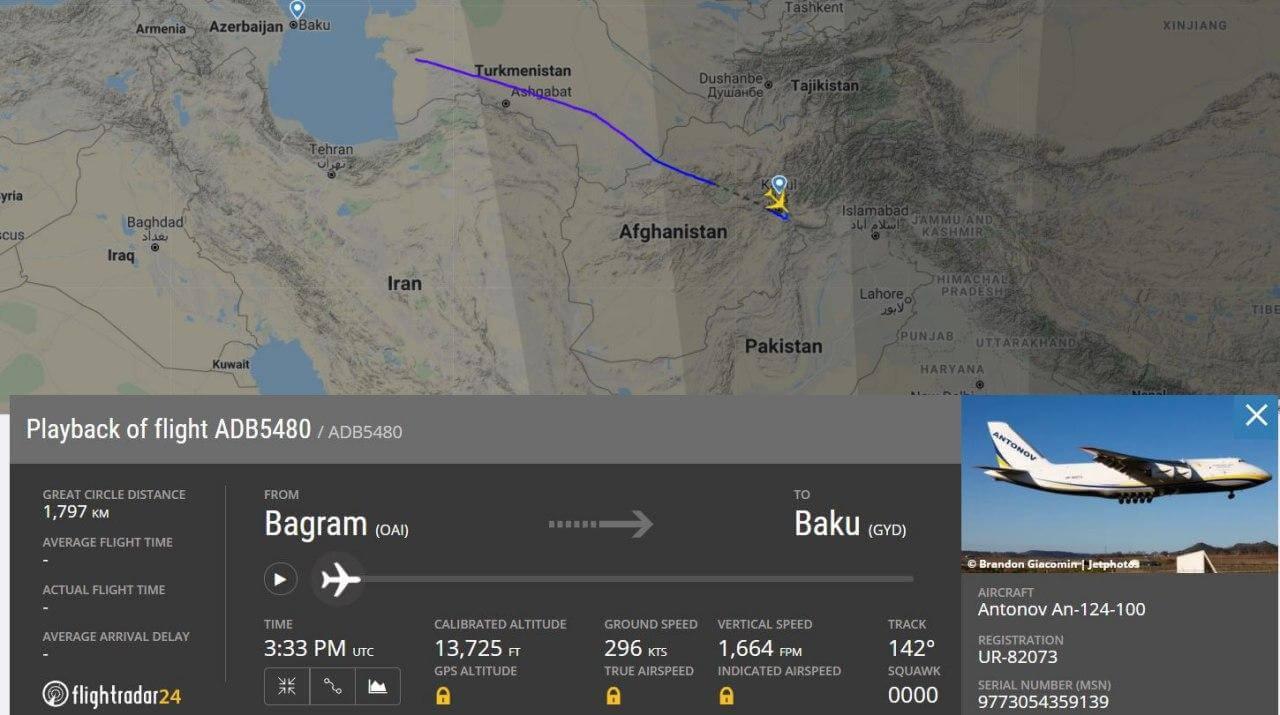 Иранское издание заявило о переброске афганских боевиков в Карабах. Самолет пролетел над Туркменистаном