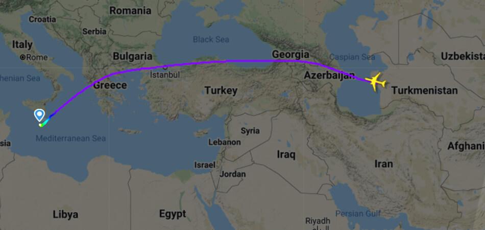 В Туркменистан самолетом доставят наличные манаты с Мальты