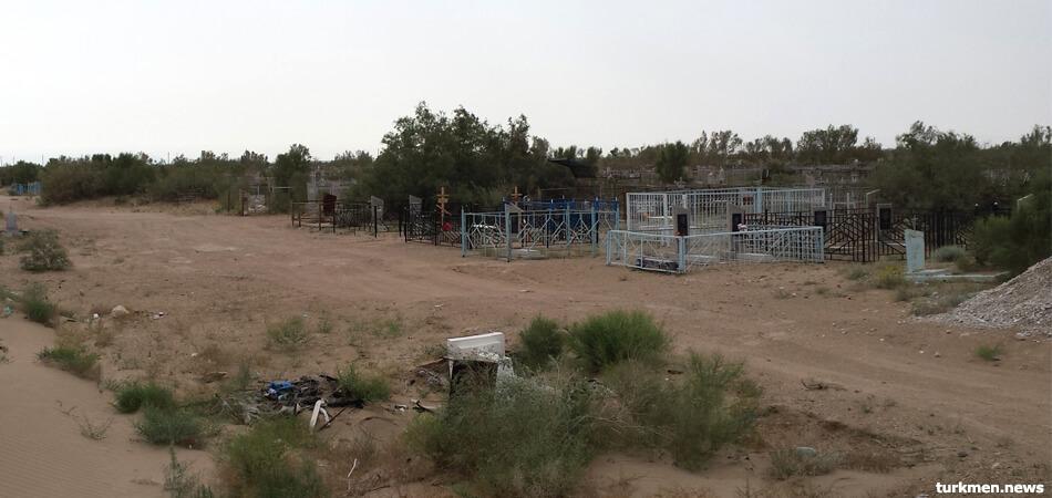 На русском кладбище в Мары поставили дежурить сотрудников МНБ из-за воровства металла