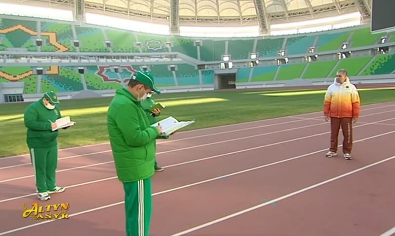 Бердымухамедов пообещал привить прибывающих в Туркменистан иностранных спортсменов