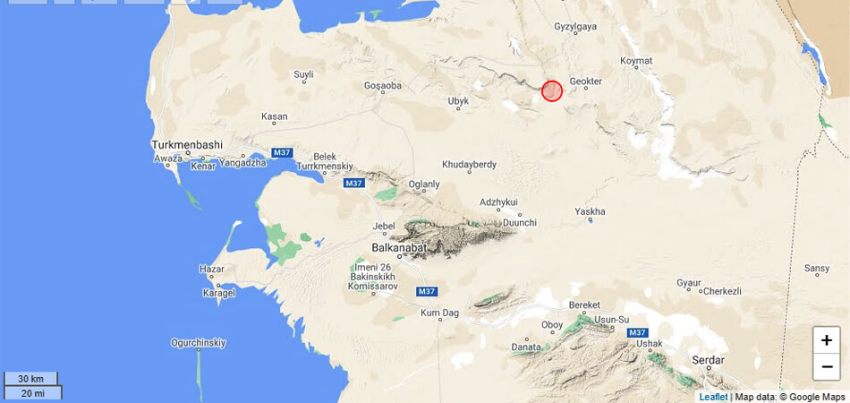 В Балканском велаяте Туркменистана произошло землетрясение