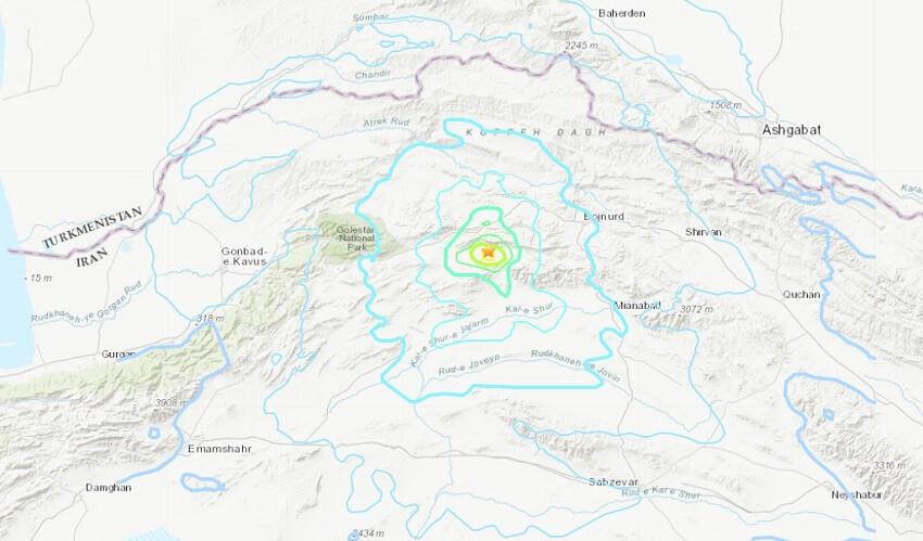 В Иране произошло землетрясение. Толчки ощущались и в Ашхабаде