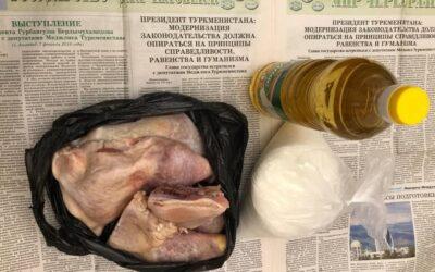 В Туркменабаде начали развозить продуктовые пайки по дворам