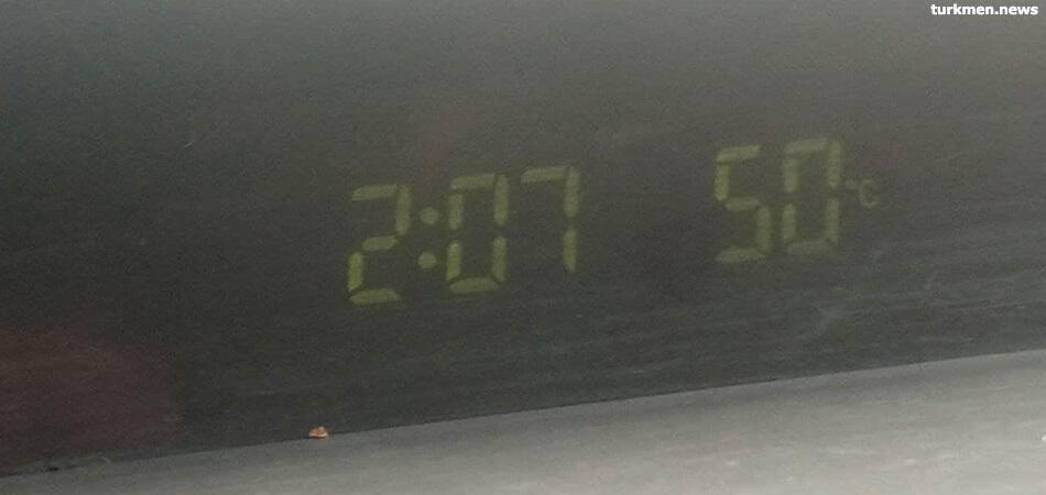 В Туркменистане более 50 градусов жары. На предприятиях сохраняется обычный режим работы