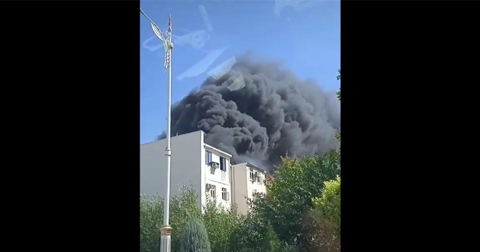 Видео: Пожар в жилом доме в Ашхабаде
