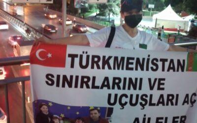 Туркменские мигранты в Стамбуле присоединились к митингам в США и Швейцарии